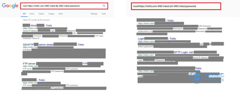 利用Google从公开的Trello面板中的获得大量敏感信息|NOSEC安全